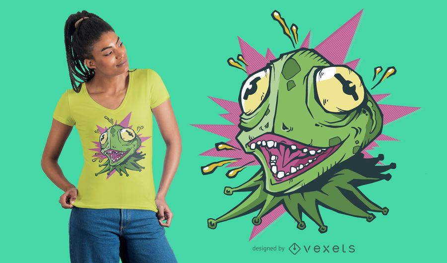 Crazy Lizard T-shirt Design