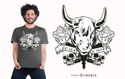 Design de t-shirt de touro de glória