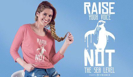 Levante seu projeto do t-shirt da voz