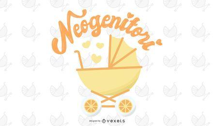 Neo-genitori Ilustração vetorial de novos pais