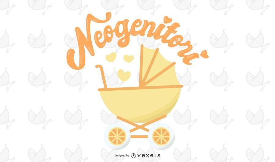 Neo-genitori neue Elternteil-Vektor-Illustration