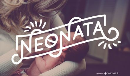 Diseño de pancarta italiana Neonata Baby Girl