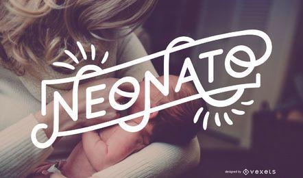 Neonato Baby Boy Italian Lettering Banner