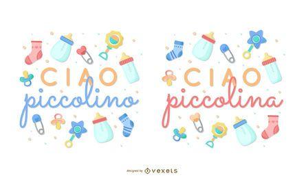 Nova coleção de letras italianas para bebês