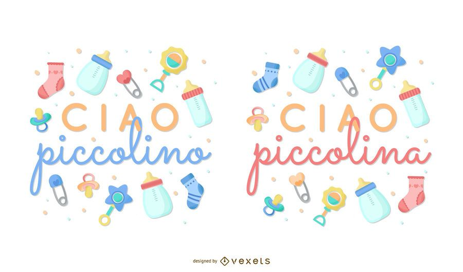 New Baby Italian Lettering Collection