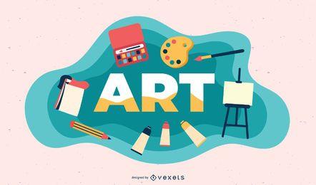 Ilustração de assunto de arte