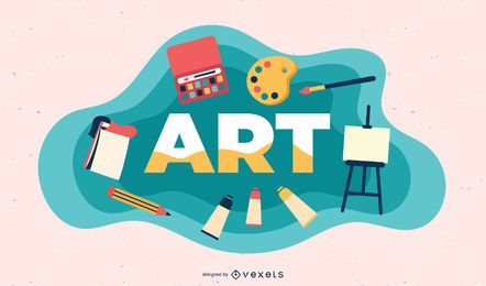 Ilustración de tema de arte