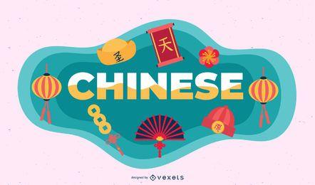 Ilustração de assunto chinês