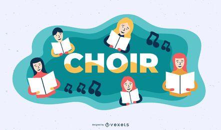 Ilustração de assunto de coro