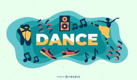 Ilustração de tema de dança