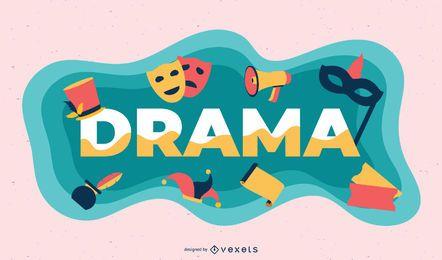 Ilustração de assunto de drama