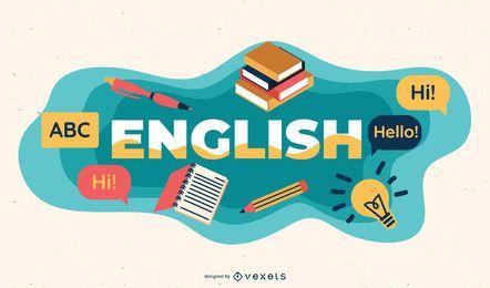 Ilustração de assunto em inglês