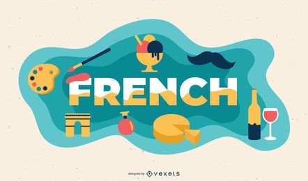 Ilustración de tema francés