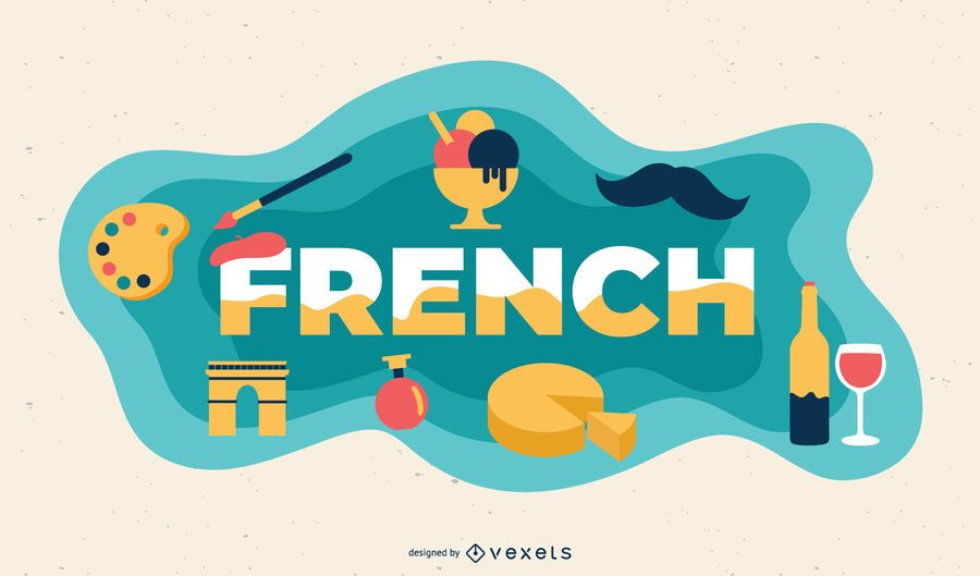 Ilustração de assunto francês
