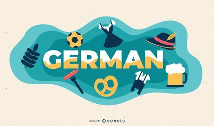 Ilustração de assunto alemão
