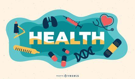 Ilustração de assunto de saúde