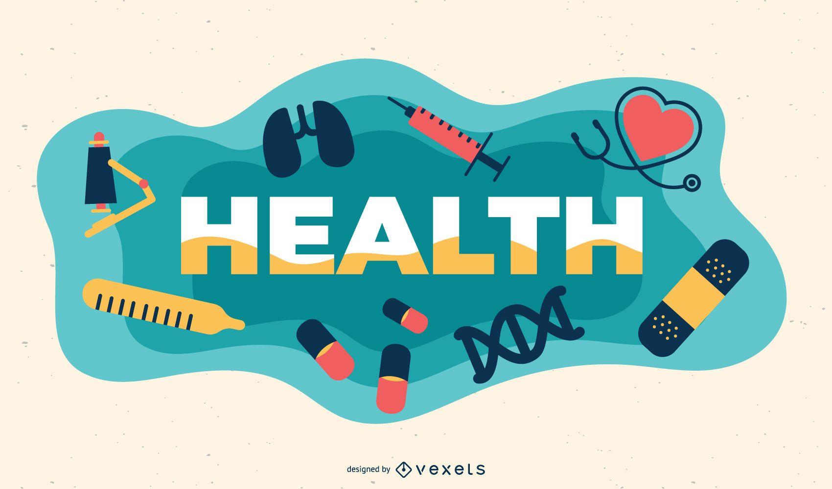 Ilustración de tema de salud