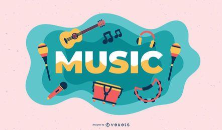 Ilustração de assunto de música