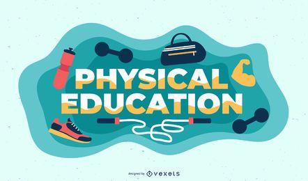 Ilustración de tema de educación física