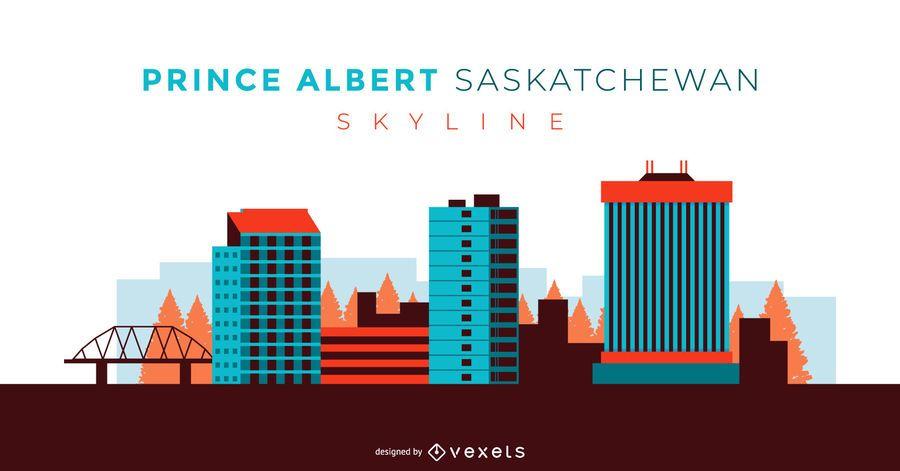 Prince Albert Saskatchewan Skyline design