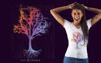 Verzauberter Baum-T-Shirt Entwurf