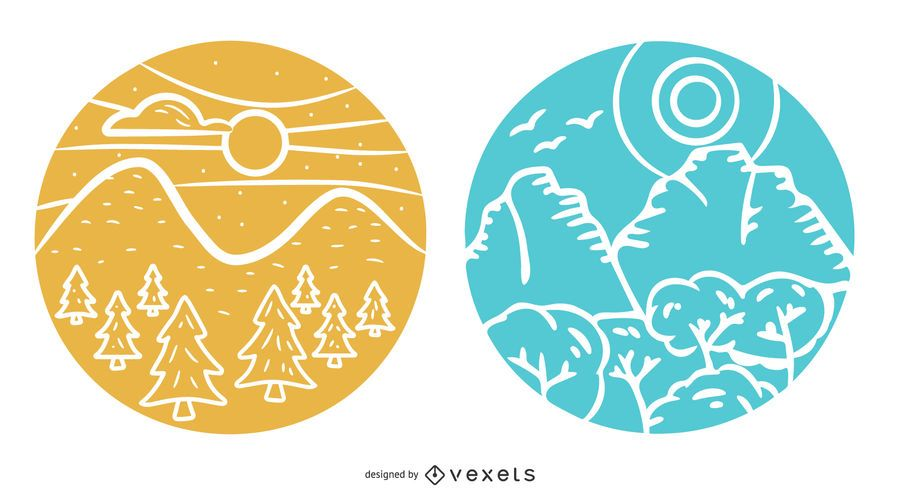 Landscape Badge Design Pack