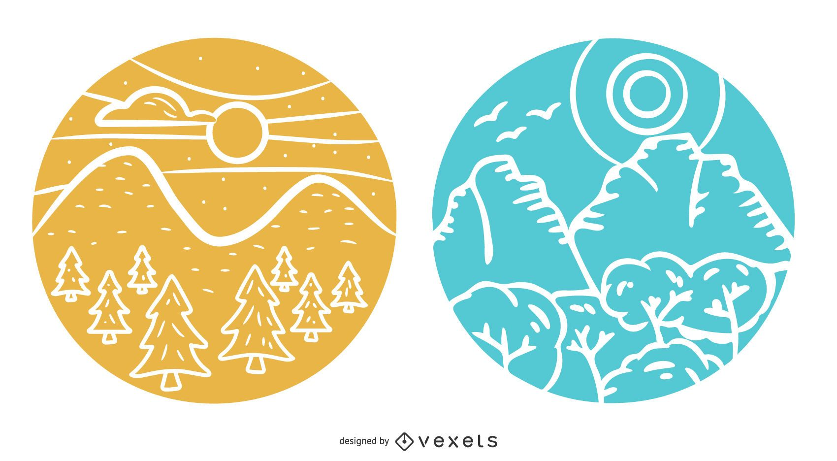 Landscape Badge Design Pack