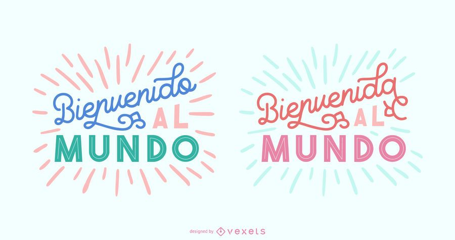 New Baby Spanish Lettering Banner Set