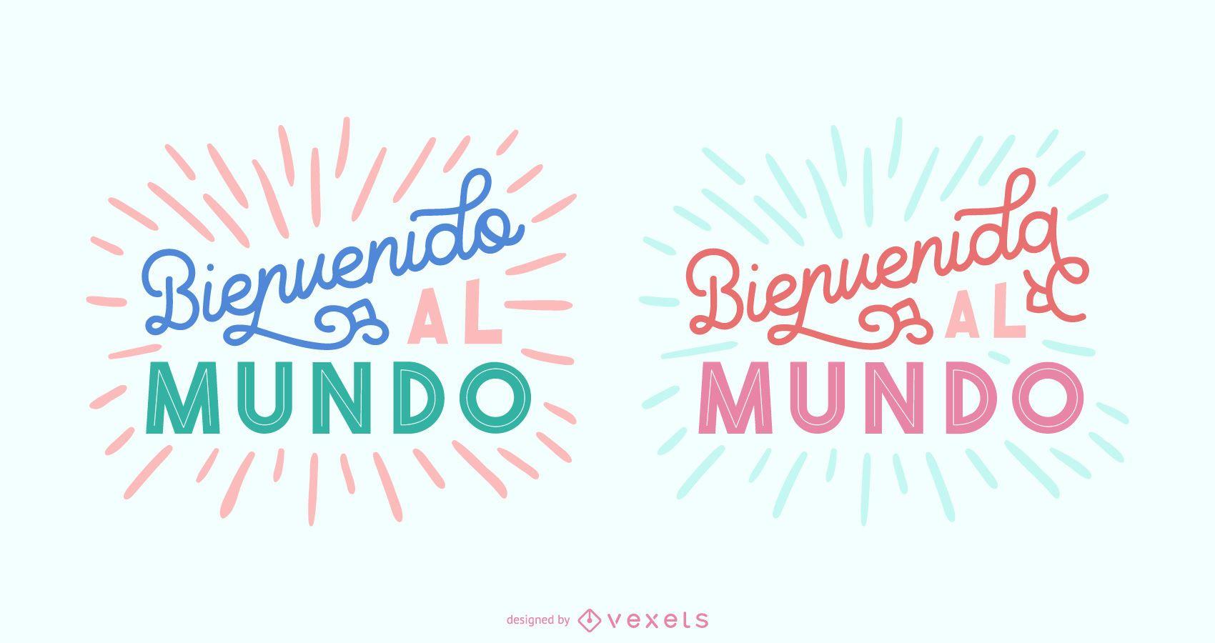 New Baby Spanish Lettering Banner Set