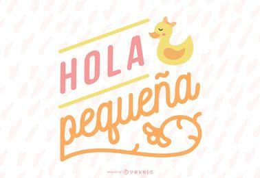 New Baby Girl Spanish Lettering Banner