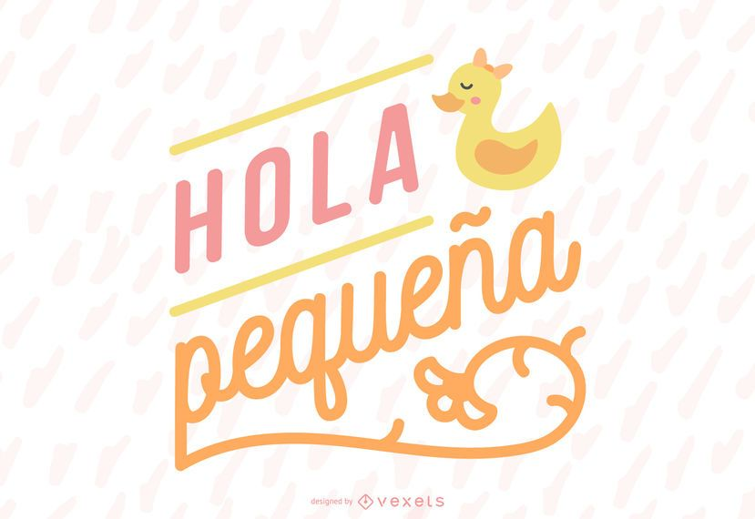 New Baby Girl Spanish Lettering Banner