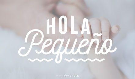 Banner de letras españolas de niño recién nacido