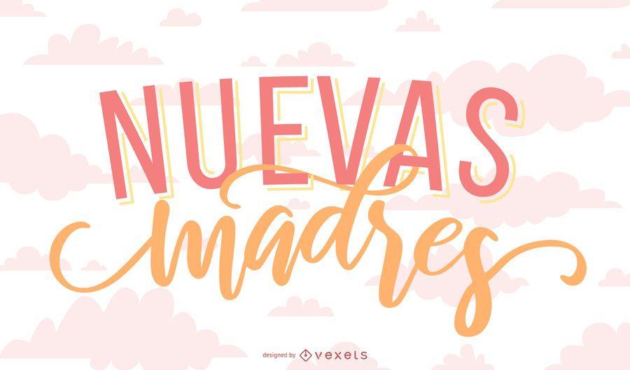 New Mother Spanish Lettering Banner