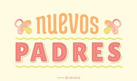 Design de letras em espanhol para novos pais