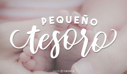 Papel de parede de letras espanholas para bebês recém-nascidos