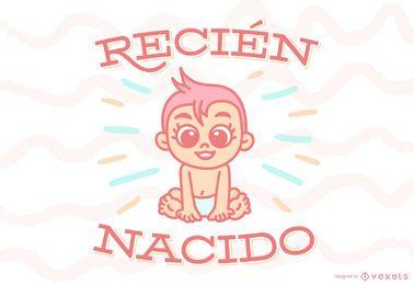 Banner de bebé de cita española recién nacido