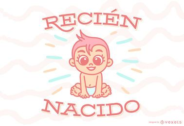 Neugeborene spanische Zitat-Baby-Fahne