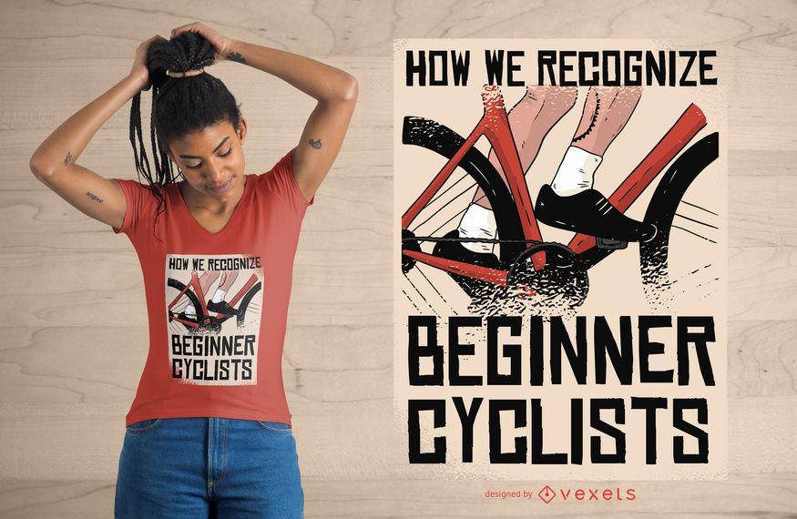 Anfänger Radfahrer T-Shirt Design