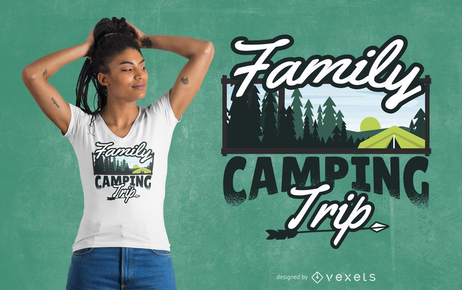 Family Camping Trip T-Shirt Design