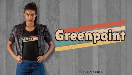 Projeto do t-shirt de Greenpoint