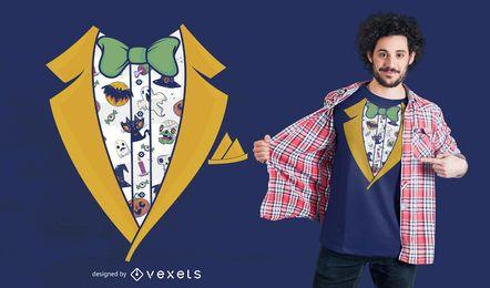 Halloween-Tuxedo T-Shirt Design