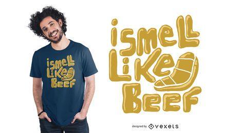 Eu cheiro como o projeto do t-shirt da carne