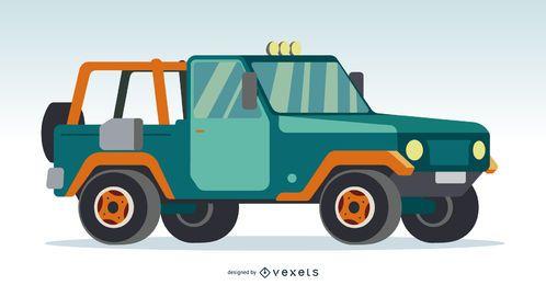 Grün und Orange Pickup Tuck
