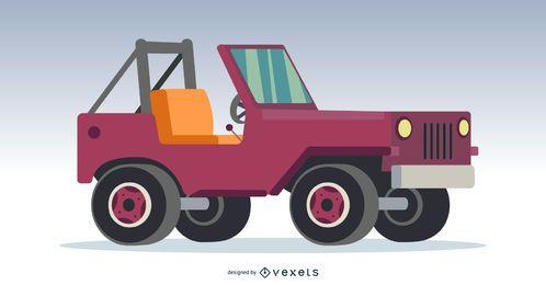 Carro fora de estrada 4x4 rosa