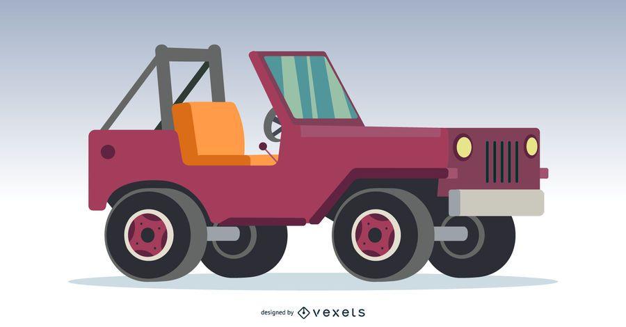Carro todo-o-terreno 4x4 rosa