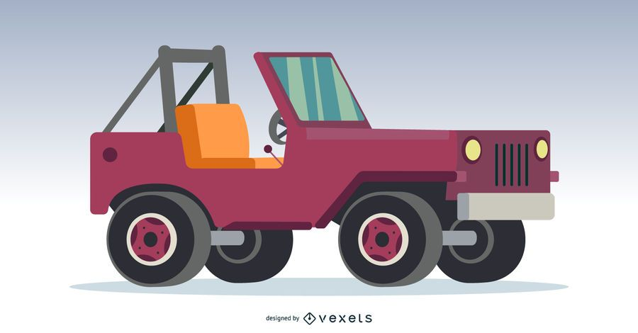 Pink 4x4 Off-Roading Car