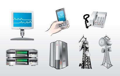 Kommunikations-Icons