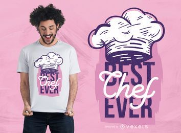 El mejor diseño de camiseta de Chef Ever