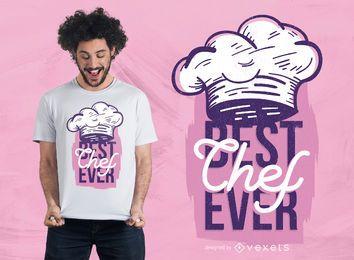 Melhor Chef Ever T-Shirt Design