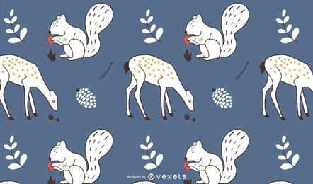 Herbsttiere Muster